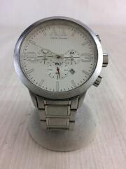 クォーツ腕時計/アナログ/ステンレス/ホワイト/シルバー/AX1278/クロノグラフ/3針/カレンダー