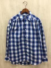 Painter Shirt - Shadow Plaid/長袖シャツ/S/コットン/BLU/チェック