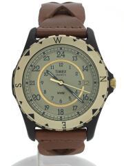SAFARI/復刻モデル/TW2P88300/クォーツ腕時計/アナログ/レザー/GLD/BRW
