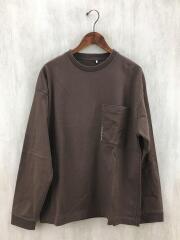 L/S pocket t-sh/2003-011/長袖Tシャツ/1/コットン/BRW