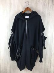 0658/ゼロロクゴーハチ/zip hoodie/FREE/コットン/BLK