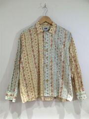 パジャマシャツ/長袖シャツ/XS/コットン/花柄