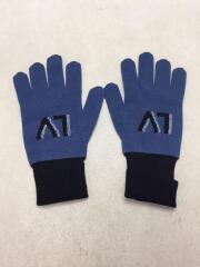 LVニットグローブ手袋/ウール/BLU