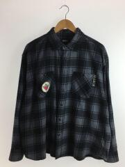 20AW/PATCHED CHECK SHIRT/長袖シャツ/L/コットン/グレー/チェック