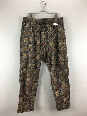 MEN String Slack Pant Printed Flannel Paisley/S/コットン/BLK