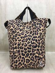 Shopper Leopard/ショルダーバッグ/ナイロン/BEG/レオパード