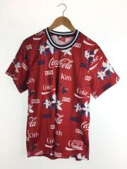 HAWAII MESH TEE/Tシャツ/M/ポリエステル/RED/総柄