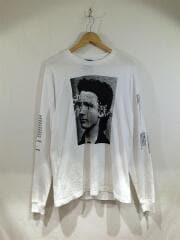 IDEAS ARE REAL LS TEE/長袖Tシャツ/M/コットン/WHT/プリント