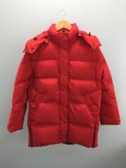Aurora Puffy Coat/オーロラパフコート/ダウンジャケット/S/RED/※背面汚れ