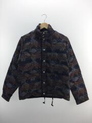 English Wool Down Jacket/イングリッシュ ウールダウンジャケット/S/NVY/総柄