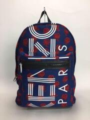 Sport Roses Backpack/リュック/ポリエステル/ブルー/花柄/バックパック デイパック