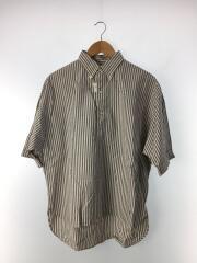 ルーズフィット 半袖プルオーバーシャツ/14/コットン/GRY/ストライプ/J-1281 NTS-BY