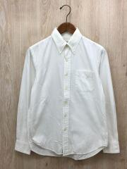 ボタンダウンシャツ/長袖シャツ/1/コットン/WHT