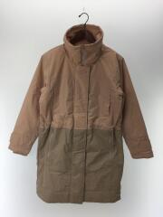 ロングジャケット/中綿ロングコート/O/ナイロン/PNK/BEG/BQ8335