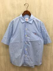ビックシルエット/オープンカラー半袖シャツ/40/コットン/BLU/ダントン/DJ-3609 MSA