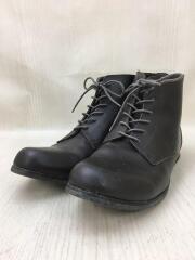 ブーツ/42/BRW/レザー/スレ有/ジップ