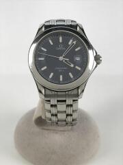 クォーツ腕時計/アナログ/ステンレス/NVY/SLV/SEAMASTER120M シーマスター