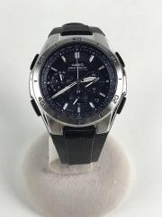 ソーラー腕時計・WAVECEPTOR/アナログ/ラバー/BLK/BLK