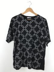 Tシャツ/S/コットン/BLK/総柄/19ss
