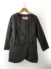 ジャケット/FREE/コットン/KHK/サーモライト中綿ノーカラージャケット