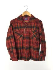 ネルシャツ/L/ウール/RED/チェック/60s後期