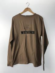 長袖Tシャツ/--/コットン/BEG/LOGO PRINT LONG SLEEVE T-SHIRT