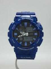 クォーツ腕時計・G-SHOCK/デジアナ/ラバー/BLK/ブルー/GAX-100MA-2AJF