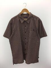 53004SP15/半袖シャツ/XXL/ポリエステル/レッド/チェック