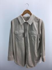2020年モデル/09WFJ201105/フェイクレザーシャツカバーオール/one/ポリエステル/ベージュ