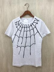 SPIDER WEB TEE/Tシャツ/S/コットン/WHT/裾部分汚れあり