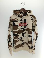 16AW/Box Logo Hooded Sweatshirt Brown Camo/M/コットン/WHT/カモフラ/プルオーバー ボックスロゴ