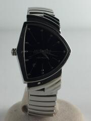 H244110クォーツ腕時計/アナログ/ステンレス/ベルト状態考慮/蛇腹ベルト非純正/傷