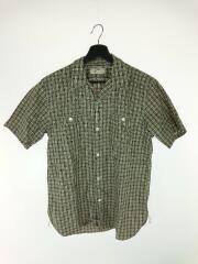 半袖シャツ/15/コットン/ルード/チェック/オープンカラー/開襟シャツ/メンズ