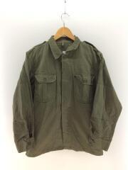 長袖シャツ/70~80s/オランダ軍/ヘリンボーン/コットン/KHK/ヴィンテージ/
