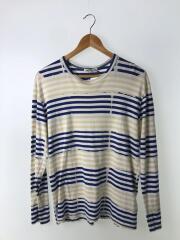 長袖Tシャツ/M/コットン/BLU/ボーダー/OG-T002/AD2011