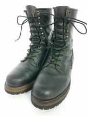 ブーツ/US8.5/BLK/レザー/PT99/ロガーブーツ/スチールトゥ/2218