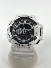 クォーツ腕時計・G-SHOCK/デジアナ/WHT/GA-400-7AJF/5398/ハイパーカラーズ