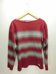 長袖Tシャツ/M/コットン/RED/HORIZON T-SHIRT L/S/2017AW