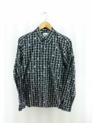 スタープリントシャツ/2015AW/スター/長袖シャツ/1/コットン/BLK/チェック