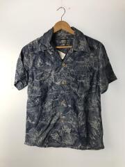 アロハシャツ/38/コットン/IDG/総柄/ジャガードアロハシャツ