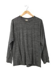 長袖Tシャツ/3/コットン/GRY