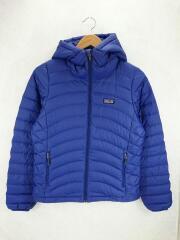 Down Sweater Full-Zip Hoody/84710/ダウンジャケット/XS/ポリエステル/BLU