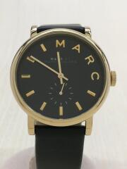 クォーツ腕時計/MBM1269/アナログ/フェイクレザー/ブラック/箱有