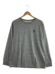 SMALL BOX LOGO TEE/長袖Tシャツ/XL/ポリエステル/グレー