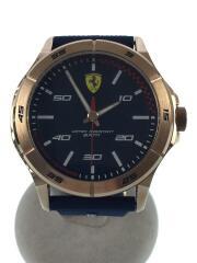 errari/フェラーリ/クォーツ腕時計/未使用/ラバー/ネイビー/0830671/箱有/タグ付