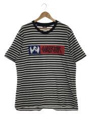 Tシャツ/XL/コットン/ボーダー/クルーネック