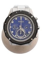 VK63-K080/クォーツ腕時計/アナログ/ステンレス/BLU/SLV