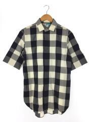 ポールスミス/半袖シャツ/M/コットン/NVY/チェック/163258/ブロックチェックシャツ