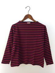 セントジェームス/バスクシャツ/長袖Tシャツ/XS/コットン/レッド/ネイビー/ボーダー