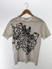 コムデギャルソンシャツ/Tシャツ/M/コットン/ホワイト/S25103/首回りヨゴレ有